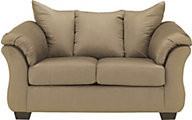 Ashley Darcy Microfiber Tan Loveseat