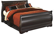 Ashley Huey Vineyard Queen Sleigh Bed