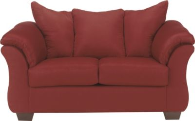Ashley Darcy Microfiber Red Loveseat