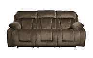 Ashley Stricklin Chocolate Reclining Sofa