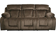 Ashley Stricklin Chocolate Power Reclining Sofa