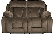Ashley Stricklin Chocolate Power Reclining Loveseat