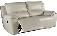 Ashley Valeton Leather Power Reclining Sofa