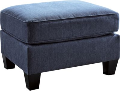 Ashley Slagle Blue Ottoman
