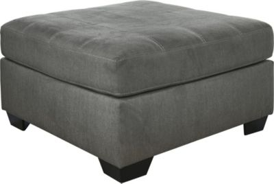Ashley Pitkin Oversized Gray Ottoman