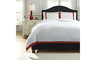 Ashley Ransik Pike Coral 3-Piece Queen Duvet Set