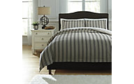 Ashley Navarre Black 3-Piece Queen Duvet Set