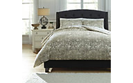 Ashley Kelby Natural 3-Piece King Duvet Cover Set