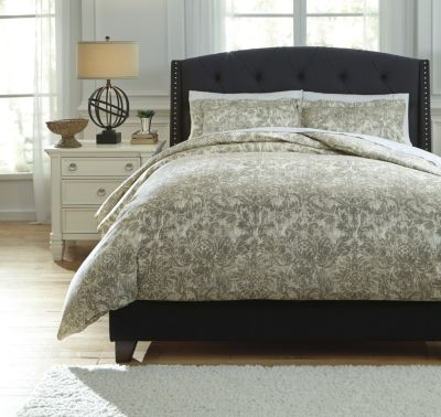 Ashley Kelby Natural 3-Piece Queen Duvet Cover Set