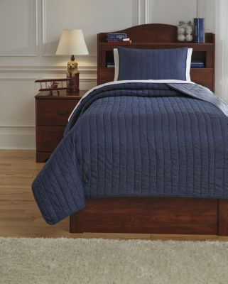 Ashley Capella Denim 2-Piece Twin Quilt Set