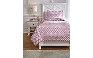 Ashley Loomis Pink 2-Piece Twin Comforter Set