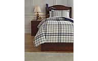 Ashley Derick Plaid 2-Piece Twin Comforter Set