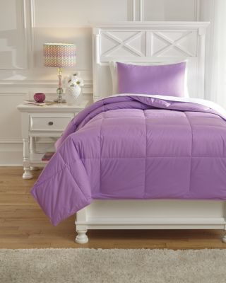 Ashley Plainfield Purple 2-Piece Twin Comforter Set