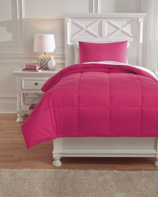 Ashley Plainfield Pink 2-Piece Twin Comforter Set