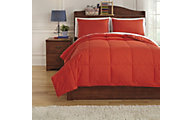 Ashley Plainfield Red 3-Piece Full Comforter Set