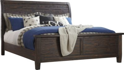 ashley trudell 4-piece king sleigh bedroom set | homemakers furniture