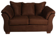 Ashley Darcy Microfiber Brown Loveseat