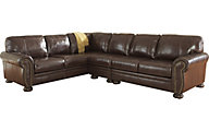 Ashley Banner 3-Piece Leather Sectional