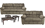 Ashley Julson Sofa, Loveseat & 3 Pack of Tables