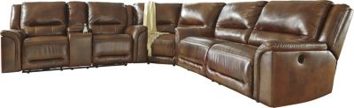 Ashley Jayron 3-Piece Leather Power Reclining Sectional