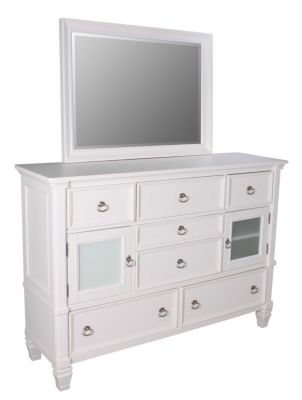 Ashley Prentice White Dresser with Mirror