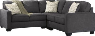 Ashley Alenya Charcoal Right-Side Sofa 2-Piece Sectional