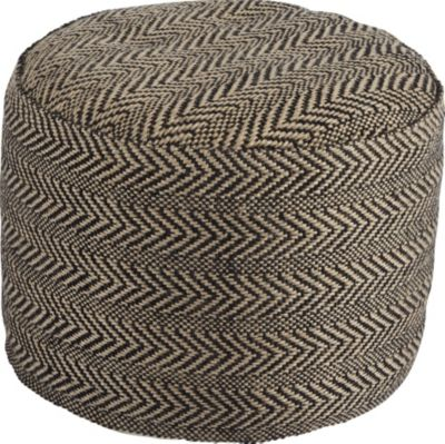 Ashley Chevron Natural Pouf