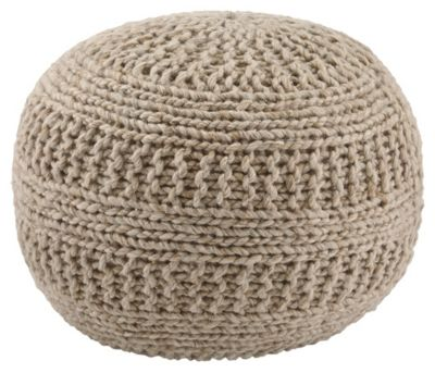 Ashley Benedict Natural Pouf