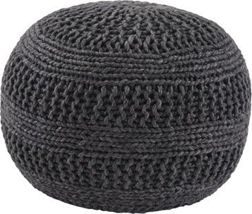 Ashley Benedict Charcoal Pouf