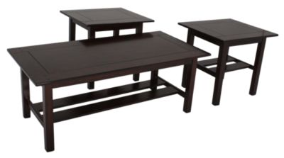 Ashley Lewis Coffee Table & 2 End Tables