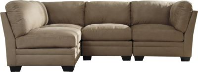 Ashley Iago Tan 4-Piece Modular Sectional