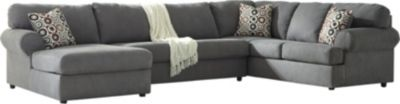 Ashley Jayceon Right-Side Sofa Gray 3-Piece Sectional