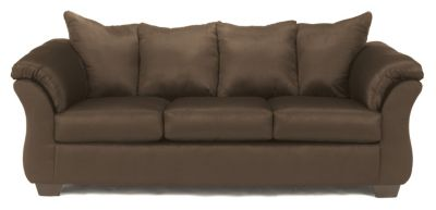 Ashley Darcy Microfiber Brown Sofa
