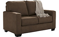 Ashley Zeb Espresso Twin Sleeper Loveseat