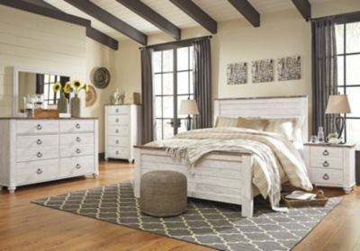 Ashley Willowton 4 Piece Queen Bedroom Set Homemakers Furniture