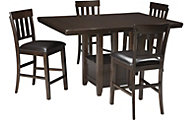 Ashley Haddigan Counter Table & 4 Stools