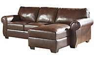 Ashley Lugoro Leather Chaise Sofa