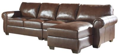 Ashley Lugoro Leather 3-Piece Sectional