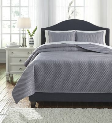 Ashley Dietrick Gray 3-Piece King Quilt Set