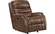 Ashley Metcalf Leather Rocker Recliner/Power Headrest