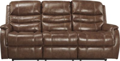 Ashley Metcalf Leather Power Reclining Sofa
