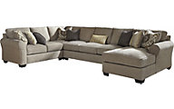 Ashley Pantomine Right-Side Chaise 4-Piece Sectional