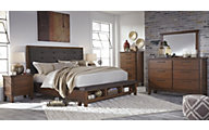 Ashley Ralene 4-Piece Queen Storage Bedroom Set