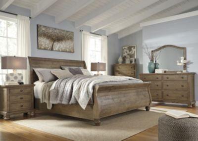 Ashley Trishley 4-Piece Queen Sleigh Bedroom Set   Homemakers Furniture