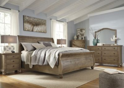 Ashley Trishley 4Piece King Sleigh Bedroom Set Homemakers Furniture