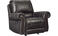 Ashley Milhaven Black Rocker Recliner