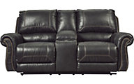 Ashley Milhaven Black Power Loveseat with Console