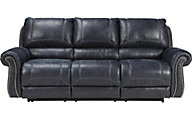 Ashley Milhaven Navy Reclining Sofa