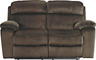 Ashley Uhland Brown Power Reclining Loveseat