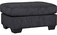 Ashley Wixon Gray Ottoman